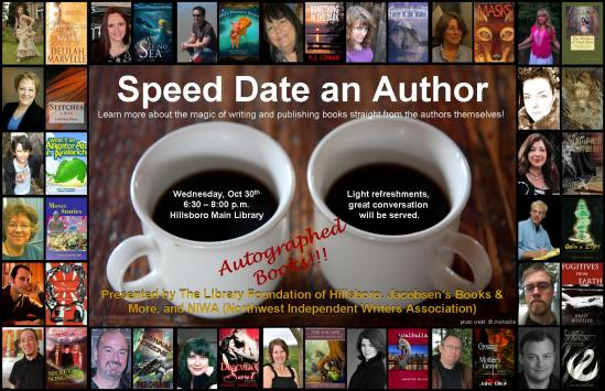 Hillsboro Speed Date an Author poster