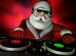 "Hip-Hop Santa says ""Just chill."""